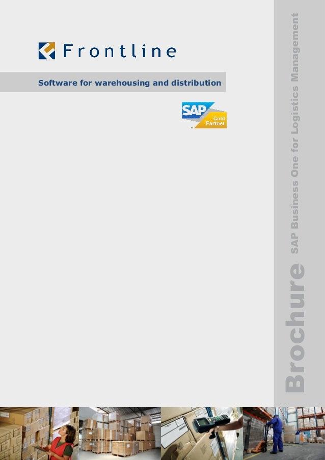 BrochureSAPBusinessOneforLogisticsManagement Software for warehousing and distribution