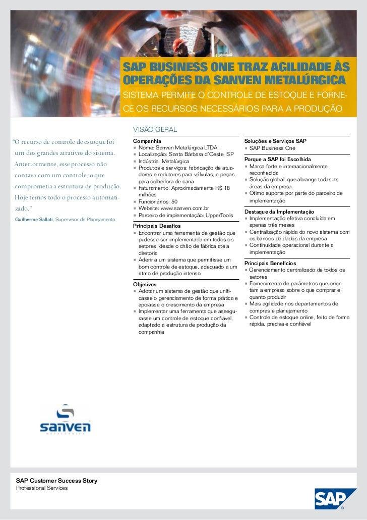 SAP Business One traz agilidade às                                                  operações da Sanven Metalúrgica       ...