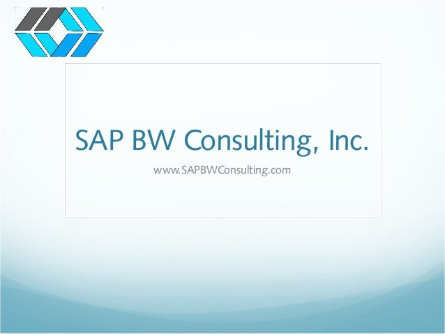 SAP BW Consulting, Inc