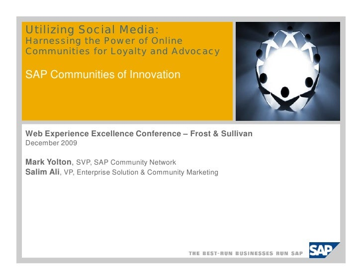 Sap CN Frost And Sullivan Web Experience Excellence Dec 2009 Final