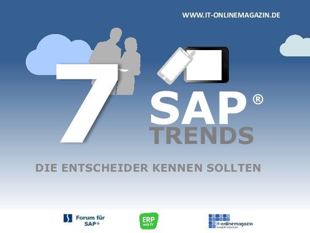 SAP Trends 2013 - die Entscheider kennen sollten ...
