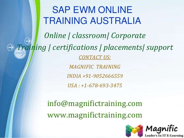 Page 1 SAP EWM ONLINE TRAINING AUSTRALIA Online   classroom  Corporate Training   certifications   placements  support CON...