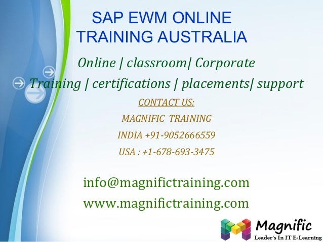 Page 1 SAP EWM ONLINE TRAINING AUSTRALIA Online | classroom| Corporate Training | certifications | placements| support CON...