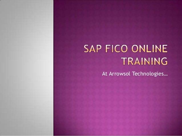 Sap fico online training