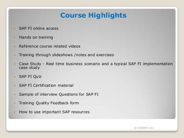 sap case study interview