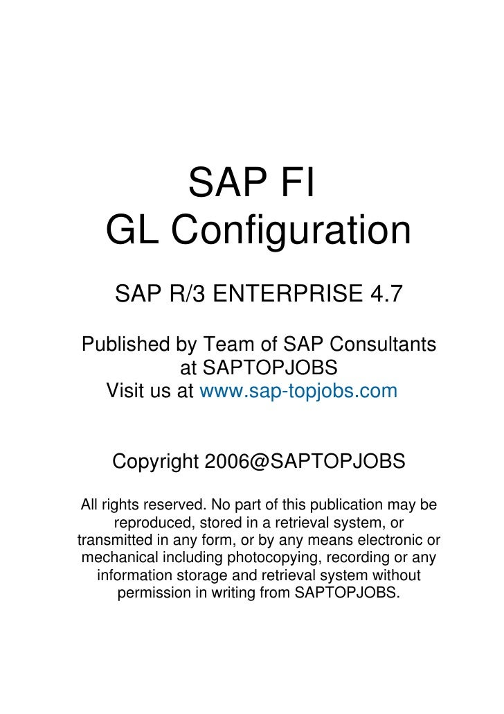 Sap fi gl_configuration