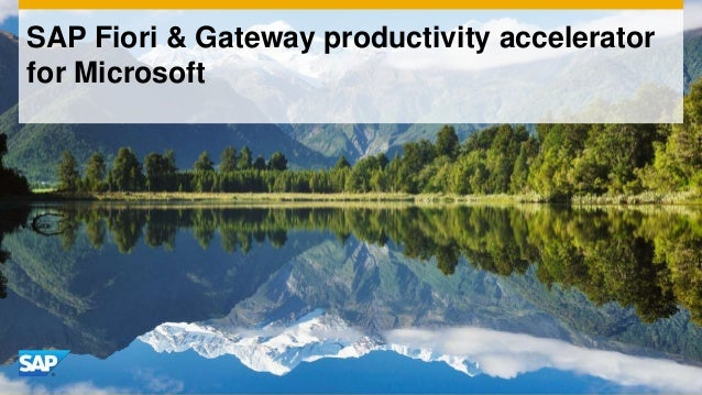 SAP Fiori & Gateway productivity accelerator for Microsoft