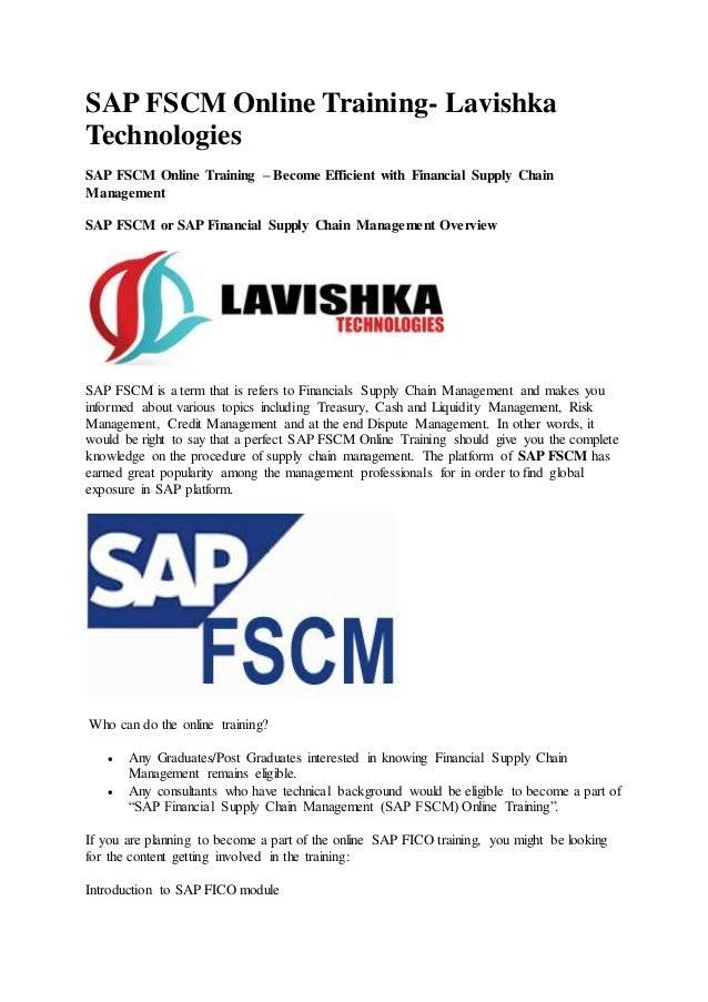 sap fscm lavishka technologies