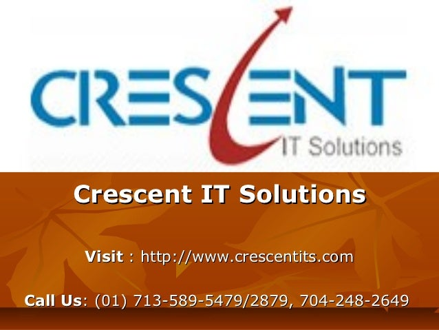 SAP HANA Online Training and Placement Support @ Crescent IT Solutions