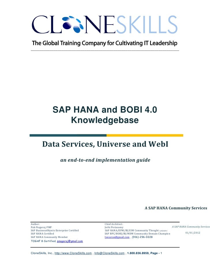 ________________________________________________________________________                SAP HANA and BOBI 4.0             ...