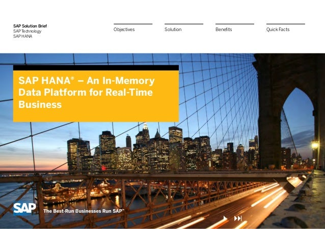 SAP HANA - Intel Big Data & Cloud Summit 2013