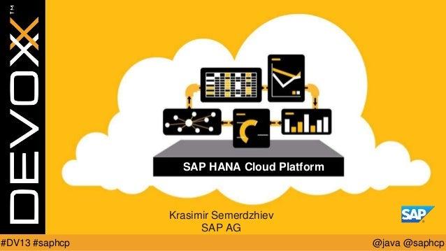 SAP HANA Cloud Platform Community BOF @ Devoxx 2013