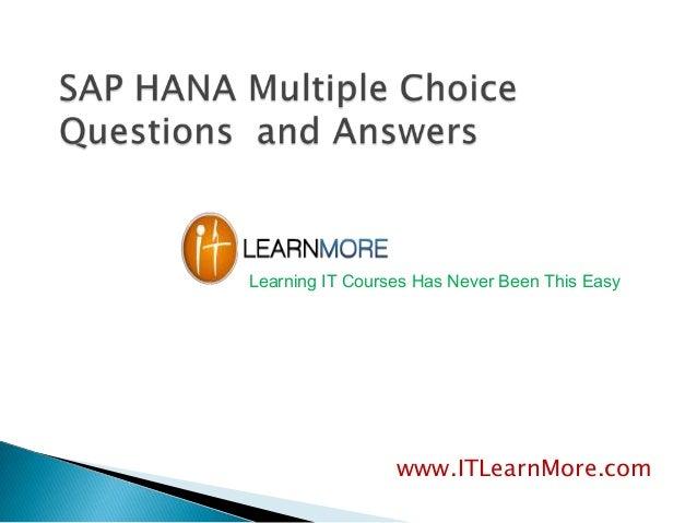 SAP HANA Practce Exam