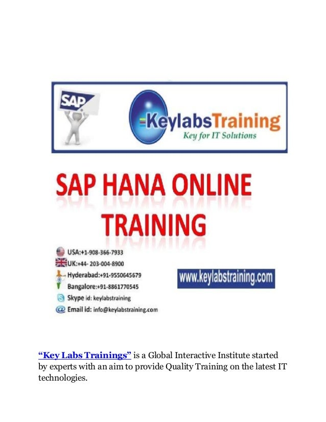 """Key Labs Trainings"" is a Global Interactive Institute startedby experts with an aim to provide Quality Training on the la..."