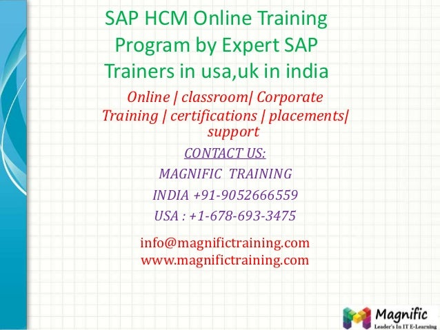 SAP HCM Online Training Program by Expert SAP Trainers in usa,uk in india Online | classroom| Corporate Training | certifi...