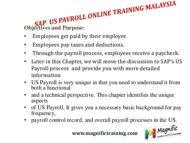 specific objective of payroll system