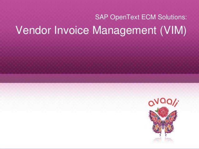 Avaali Solutions - Sap invoice management by open text