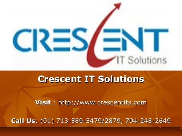 SAP IS RETAIL Online Training and Placement Support @ Crescent IT Solutions