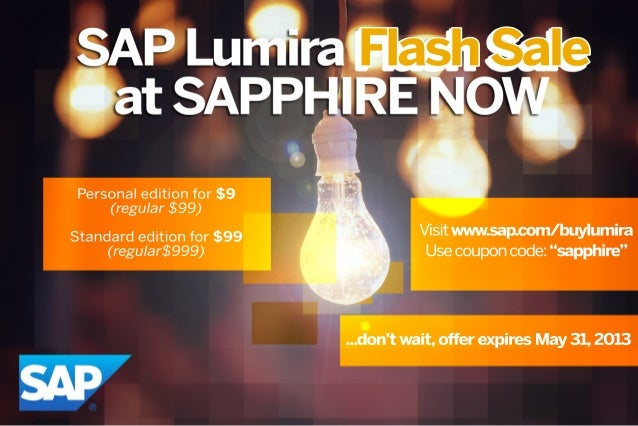SAP Lumira Flash Sale