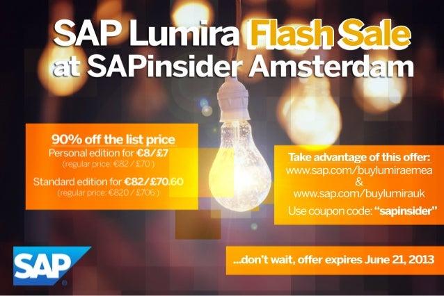 SAP Lumira Flash Sale for EMEA and UK