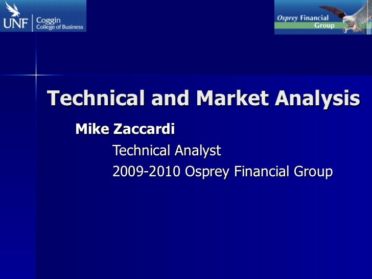 Technical and Market Analysis Mike Zaccardi Technical Analyst 2009-2010 Osprey Financial Group