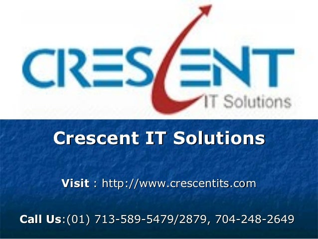 SAP MDM Online Training and Placement Support @ Crescent IT Solutions