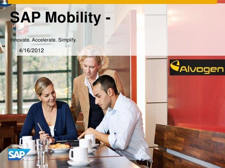 Sap Mobility Presentation 5 1 2012