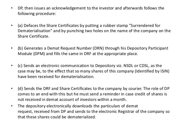 electronic share certificates