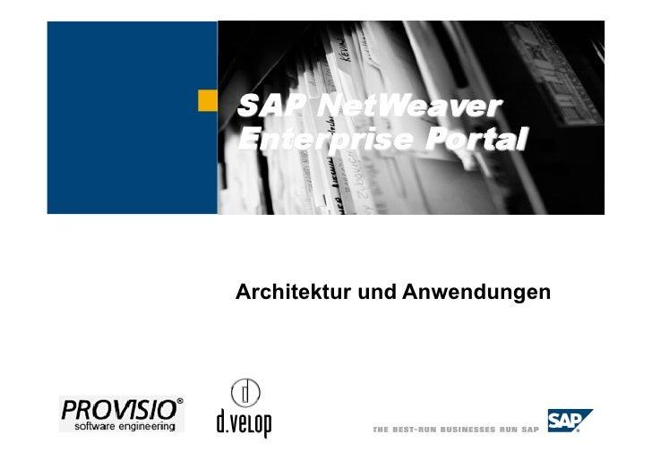 Datum, Ort                Architektur und Anwendungen