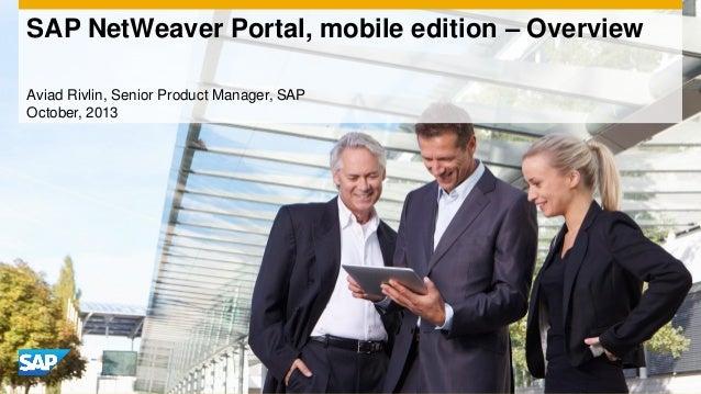 SAP NetWeaver Portal, mobile edition – Overview