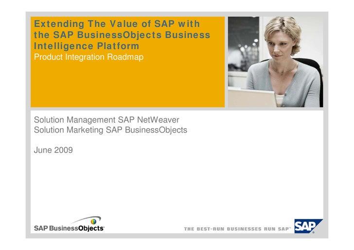 RoadMap de Integración SAP BW & SAP BO