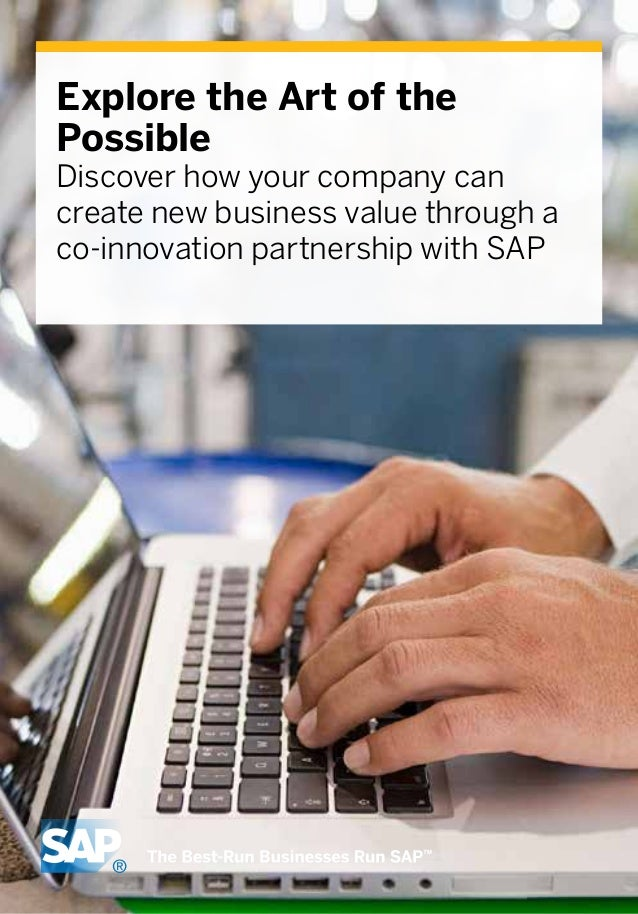 Explore the Art of the Possible Discover how your company can create new business value through a co-innovation partnershi...