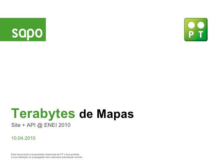 Terabytes de Mapas