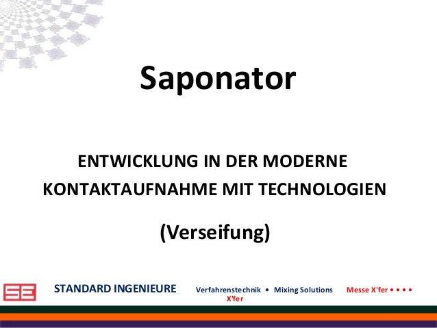 STANDARD INGENIEURE Verfahrenstechnik • Mixing Solutions Messe X'fer • • • • X'fer STANDARD INGENIEURE Verfahrenstechnik •...