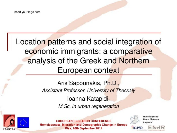 Insert your logo here Location patterns and social integration of   economic immigrants: a comparative    analysis of the ...