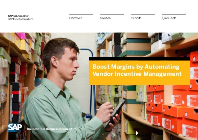 Boost Margins by Automating Vendor Incentive Management with Solution Extensions from SAP