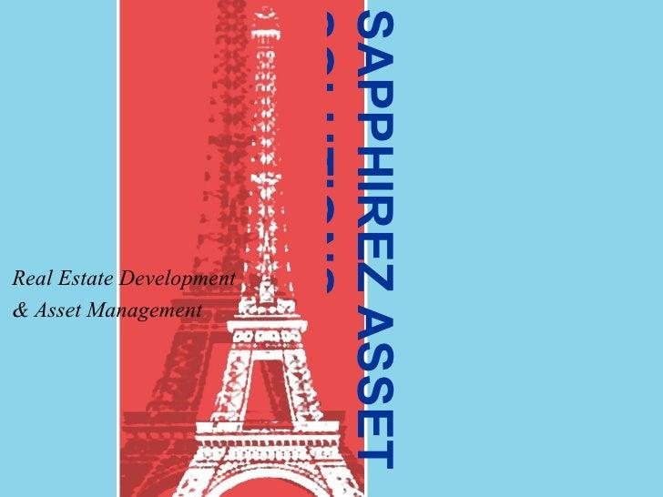 SAPPHIREZ ASSET SOLUTIONS Real Estate Development & Asset Management