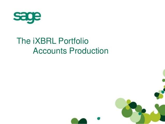 The iXBRL Portfolio Accounts Production