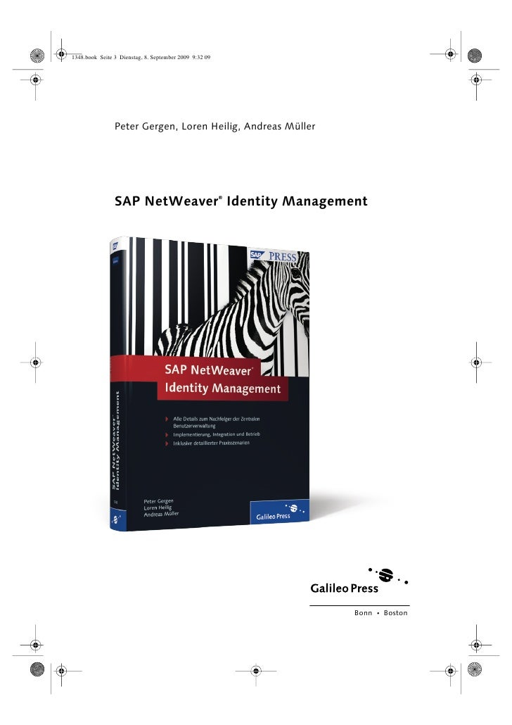 Sappres Netweaver Identity Management