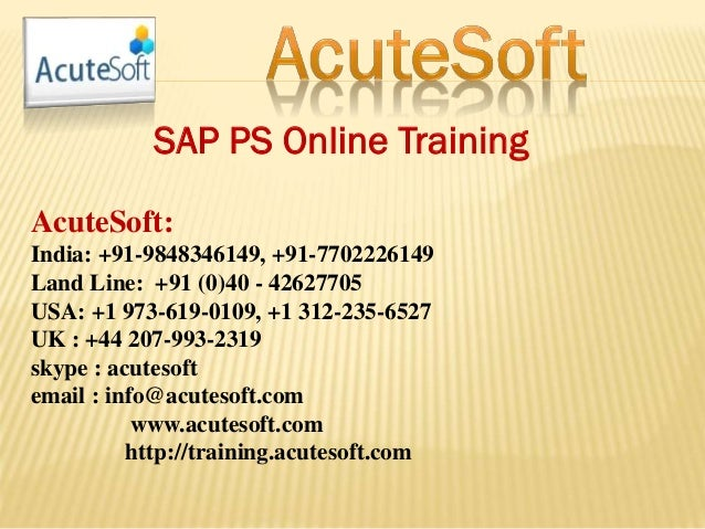 Sap ps online training