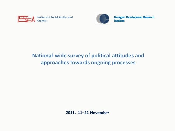 Institute of Social Studies and                 Georgian Development Research Analysis                                    ...