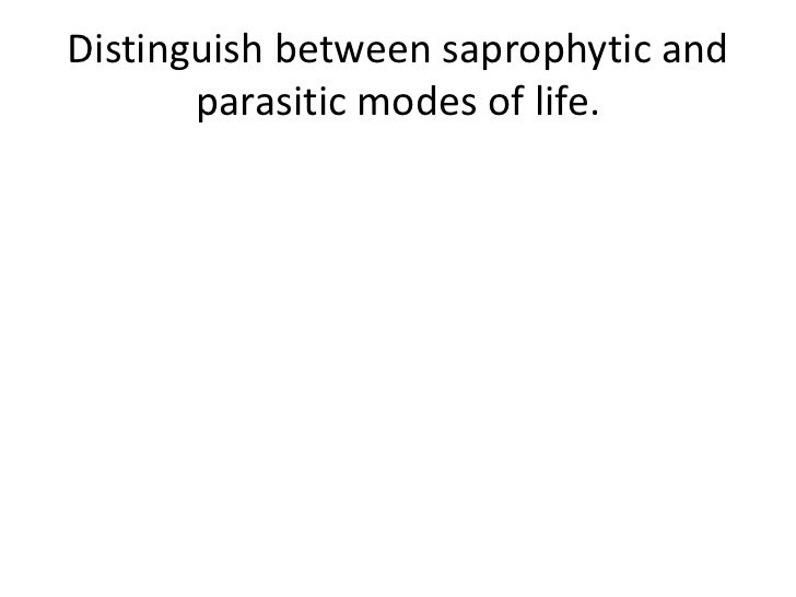Distinguish between saprophytic and       parasitic modes of life.