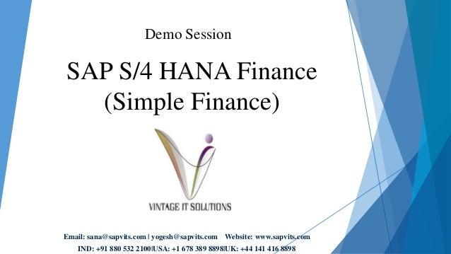 what is sap s4 hana simple finance online training autos