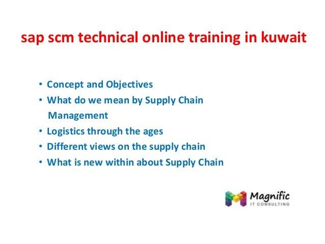 Sap scm technical online training in kuwait