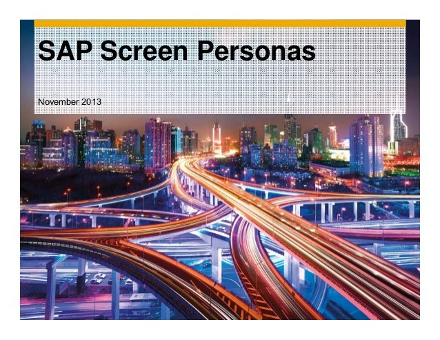 SAP Screen Personas November 2013