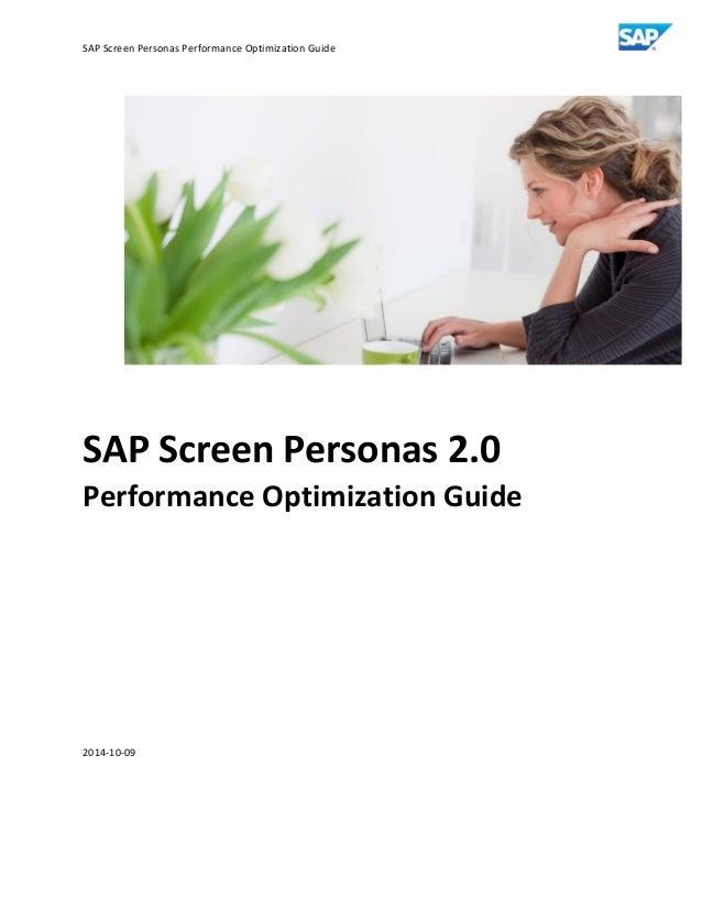 Sap screen personas performance optimization guide v0.96