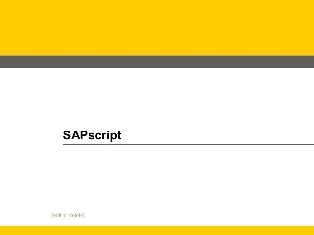 SAPscriptHP Restricted [edit or delete]