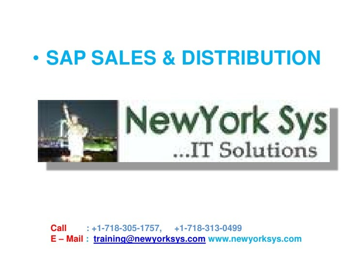 SAP SD Online Training By Newyorksys