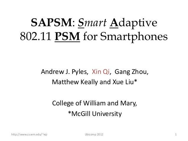 SAPSM Ubicomp 2012