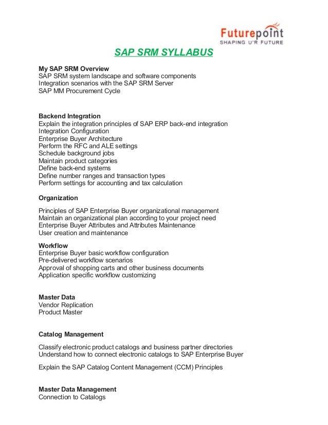 Sap srm training course